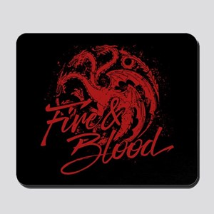 GOT Targaryen Fire And Blood Mousepad